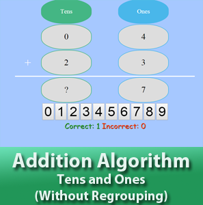 Addition Algorithm - Tens and Ones - Without Regrouping