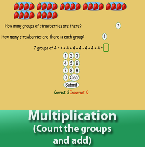 Multiplication - Count the groups and add