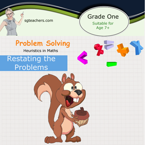 Heuristic Math method focus on Restating the problem (Singapore math approach)