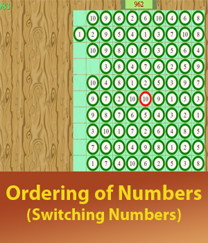Ordering Number Till 10 by switching numbers