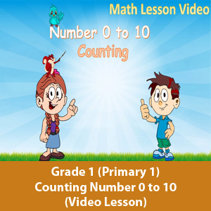 Primary 1 (Grade 1) - Math Lesson - Counting number 0 to 10