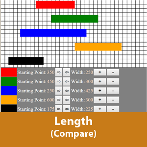Compare length of different color bars