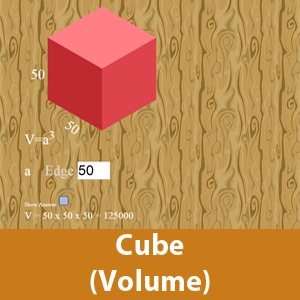 Cube (Find the Volume)