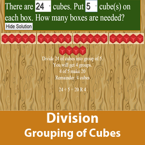 Division Grouping of cubes