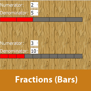 Fractions using bars