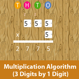 Multiplication Algorithm 3 digits by 1 digit