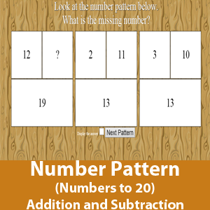 Number Pattern (Number within 20) - addition and subtraction