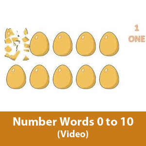 Learning number words 0 to 10