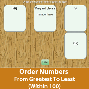 Order Numbers From Greatest To Least (Within 100)
