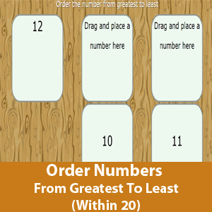 Order Numbers From Greatest To Least (Within 20)