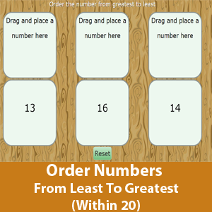 Order Numbers From Least To Greatest (Within 20)