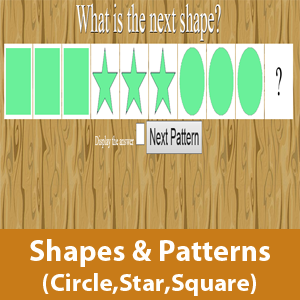 Shapes and pattern (Star, circle and square)