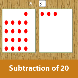 Subtraction of 20