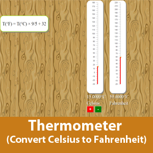 Thermometer (Convert Celsius to Fahrenheit)