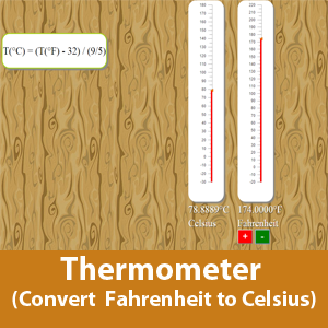 Thermometer (Convert Fahrenheit to Celsius)