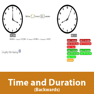 Time and Duration - Backwards