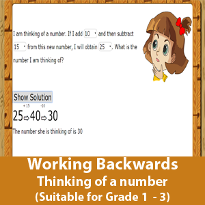 Working Backwards (Thinking of a number)
